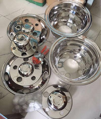 China Mitsubishi Rosa Bus Simulator Wheel Covers , Stainless Steel Hubcaps Wheel Covers supplier