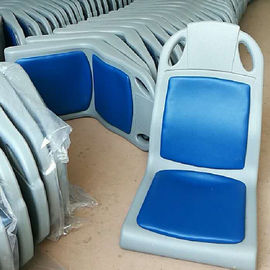 China Blue Plastic Bus Seats With Cushion Boat Seat Environmental Injection Molding supplier