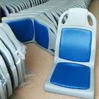 Blue Plastic Bus Seats With Cushion Boat Seat Environmental Injection Molding
