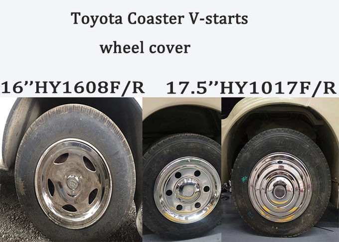 6702toyota coaster V-star bus wheel cover 16inches 17.5inches coaster seats mudguard stainless wheel cover truck wheel